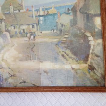 Cornish Harbour Newlyn Oil Painting Pre 1940 - Visual Art