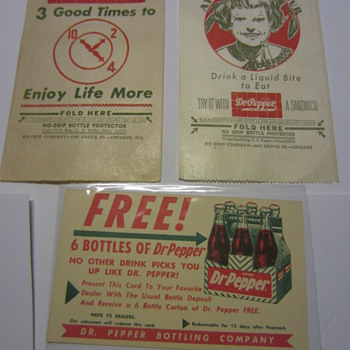 Dr Pepper Paper goods - Advertising