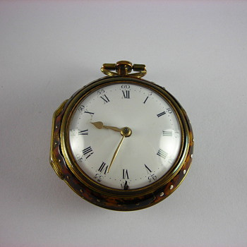 Under-painted Horn English Verge Fusee Pocket Watch - Pocket Watches