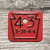 1943 PA Keystone License / Badge