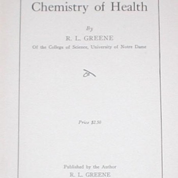 1928 The Chemistry of Health