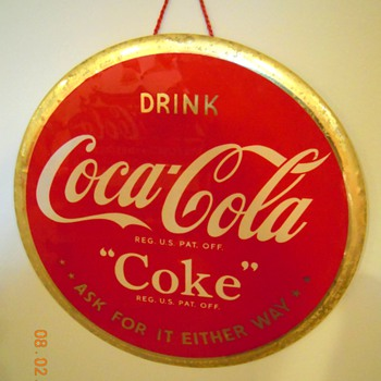 "1940's Coca-Cola 9"" Celluloid Sign"