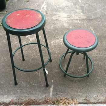 Set of 1950's garage stools