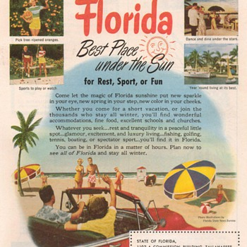1951 - Florida Travel Advertisement - Advertising