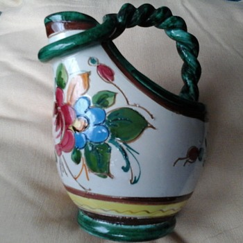 Beautiful  Italian Jug  - Art Pottery
