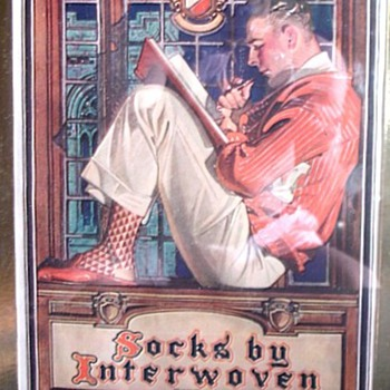 J.C. LEYENDECKER AND INTERWOVEN SOCKS.  WOW! - Paper