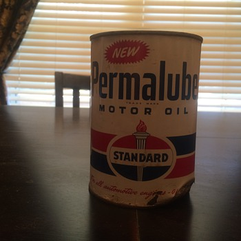 Permalube oil can 1950's - Petroliana