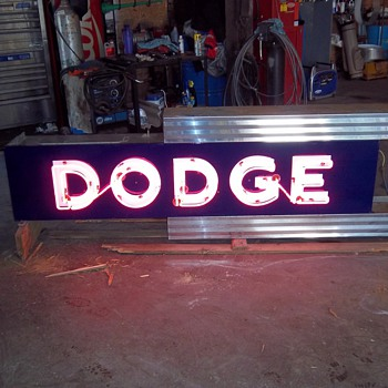 Dodge Dealership Neon Sign