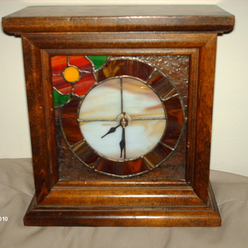 stained glass mantle  clock - Clocks