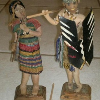Old  Indian cloth dollas - Dolls
