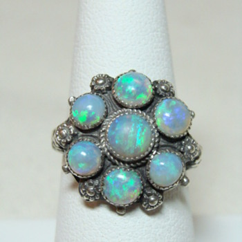 Arts and Crafts Opal and Silver Ring