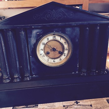 Trying to find out about this clock that sat on my grandparent's mantel for so many years - Clocks