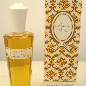 Madame Rochas - White Capped Perfume Bottle - Bottles