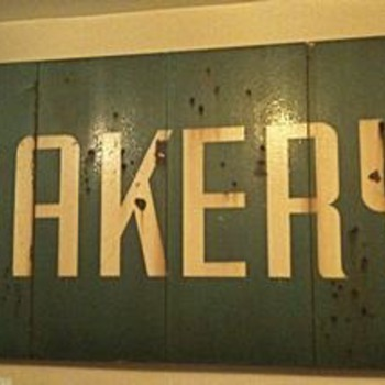 Original sign from the Cammerari Bakery, of &quot;Moonstruck&quot; Fame