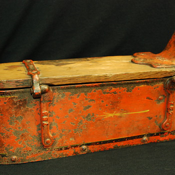 Antique Tractor Box? Railroad? Factory?