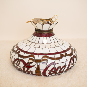 Coca Cola stained glass chandelier, is this AUTHENTIC or REPRODUCTION - Coca-Cola