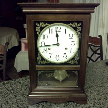 Antique Regulator Clock - Clocks
