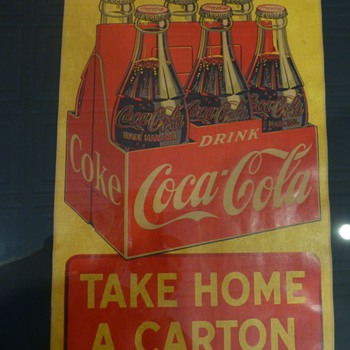 1946 Paper Coca-Cola sign - Advertising