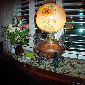 Copper Rayco oil lamp