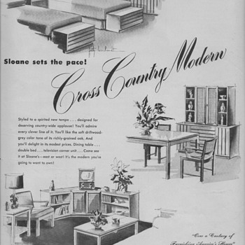 1950 Sloanes Furniture Advertisement