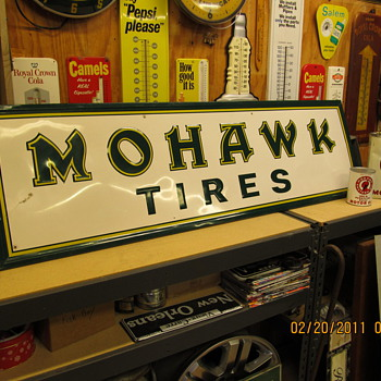Mohawk tire sign - Petroliana