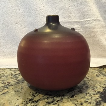 Beautiful bud vase. Asian marks. Not sure of the maker