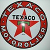 "Old Norwegian Texaco Sign, ap. 1930, 25,6"", Porcelain on Steel"