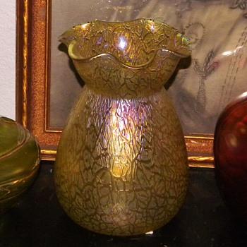 Art Nouveau Loetz Candia Mimosa Iridescent Vase :))