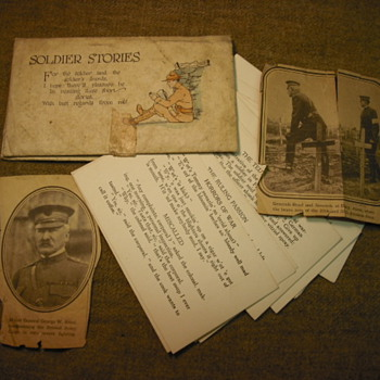 WWI items from one lot - paper and photos - Military and Wartime