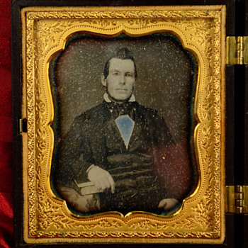 Mr. and Mrs. Sidney Perham, Governor of Maine, daguerreotypes