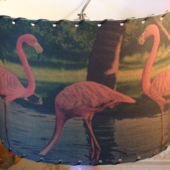 Florida Flamingo Lamp Shade Mid-Century