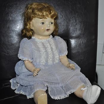 """21"""" tall vintage doll."""