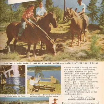1951 - Canada Travel Bureau Advertisements - Advertising