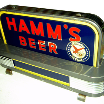 1930's Hamm's deco backbar light - Breweriana