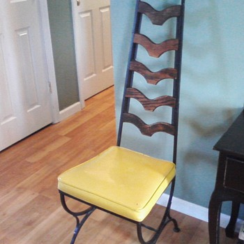 Wrought iron high back chair - Furniture