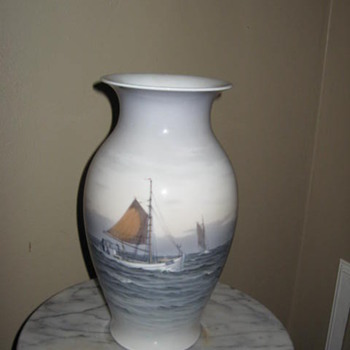 Sail boat vase I acquired at a tag sale - China and Dinnerware