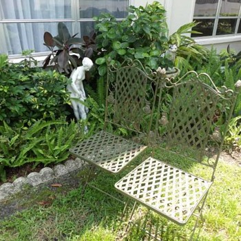 wrought iron folding chairs - Furniture