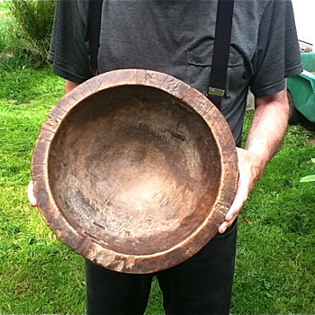 Unknown maker Antique Native American Indian ? Hawaiian ? Wood bowl