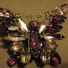 Juliana DeLizza &amp; Elster Butterfly Brooch Purple Lilac Stones