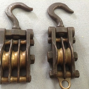 I have 2 old pulleys and i have no idea what they or anything about them.