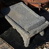 very large and somewhat old molcajete y tepetate