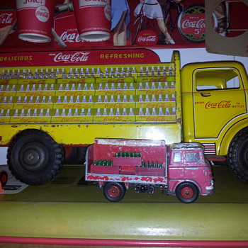 Coke Toy Trucks