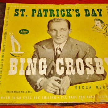 """St. Patrick's Day"" by Bing Crosby - Records"