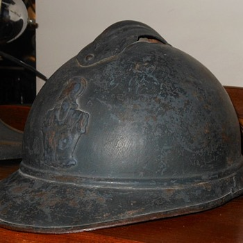 WWI French Adrian Helmet M 15, With Sapper Badge 1915