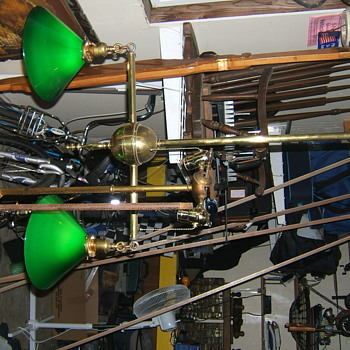 1900's billiard chandelier - Lamps