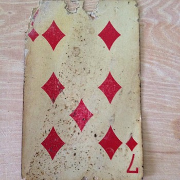 Vintage South Western Playing Card