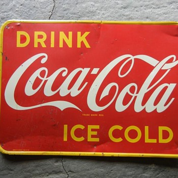 1948 Tin Coca Cola sign Canada - Coca-Cola