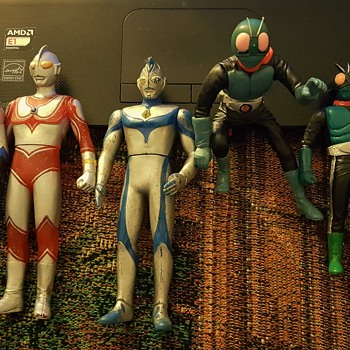 Japanese action figures.