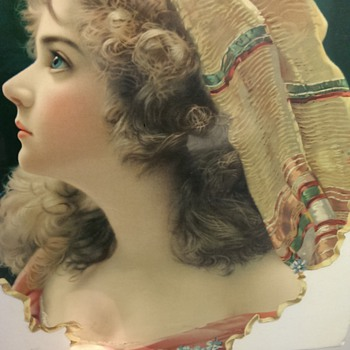 Antique Advertisement Cutout with Woman (Made in Germany)  - Advertising