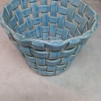 BASKET WEAVE POTTERY  - Art Pottery
